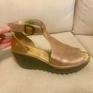 FLY London open toe sandals worn only 2X sz 39
